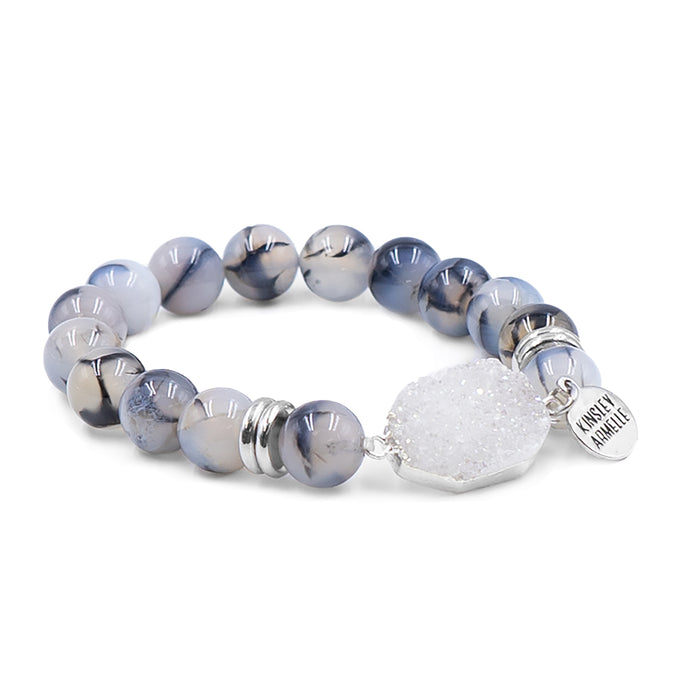 Stone Collection - Lunar Silver Bracelet