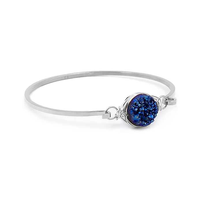 Stone Collection - Silver Ondine Blue Bracelet