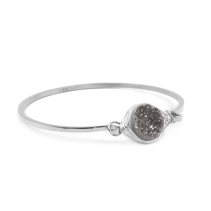 Stone Collection - Silver Stormy Bracelet
