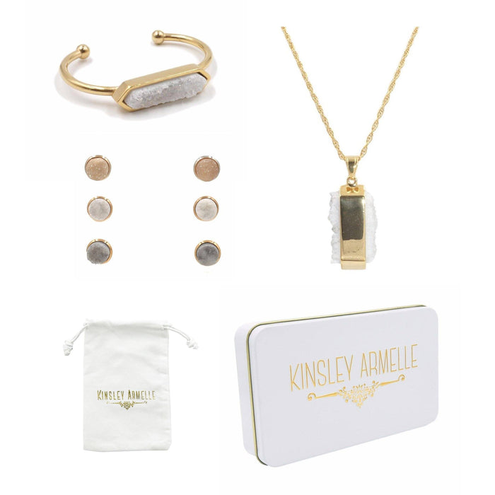 Stone Gold Quartz Gift Set