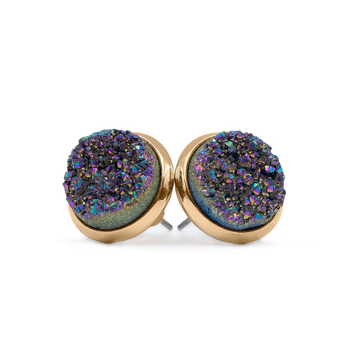 Stone Collection - Elara Cosmic Quartz Stud Earrings