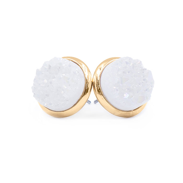 Stone Collection - Pearl Quartz Stud Earrings