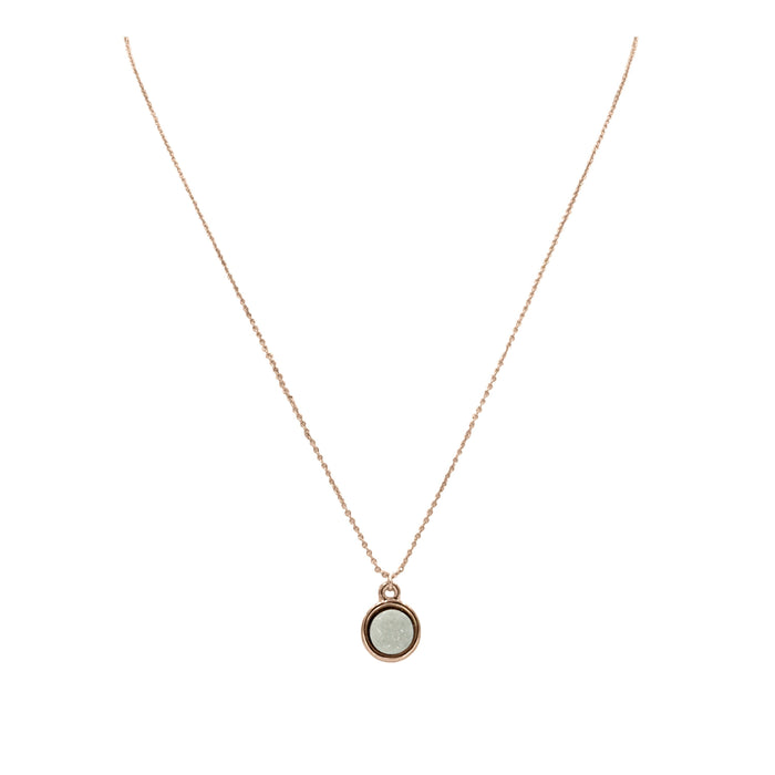Stone Collection - Rose Gold Pearl Necklace