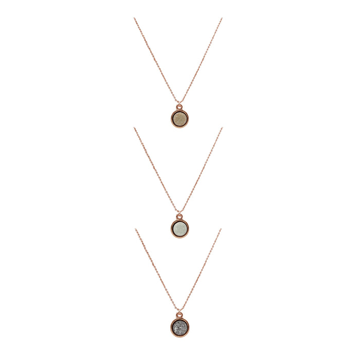 Stone Collection - Rose Gold Quartz Necklace Set