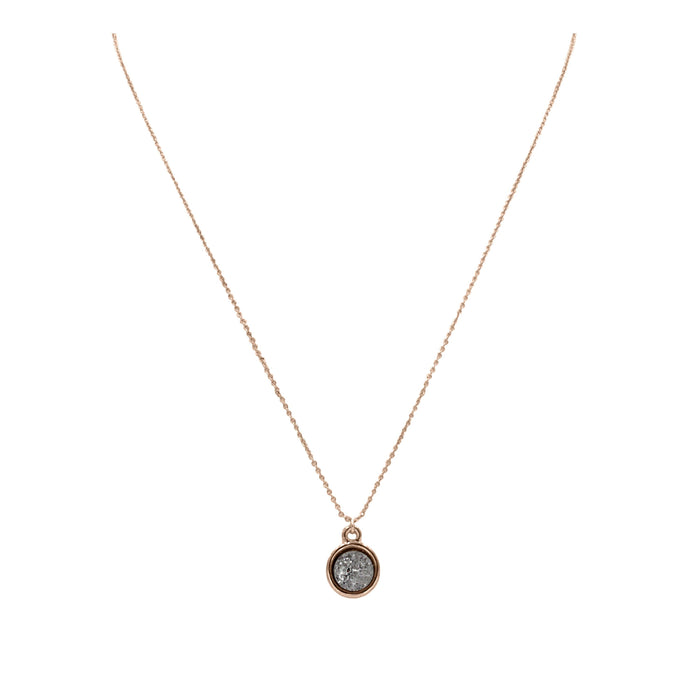 Stone Collection - Rose Gold Stormy Necklace
