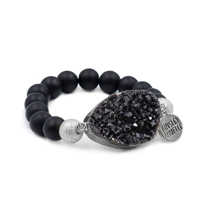 Stone Collection - Silver Coal Bracelet