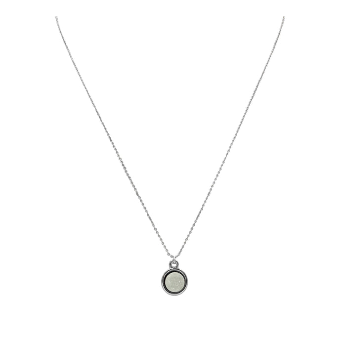 Stone Collection - Silver Pearl Necklace