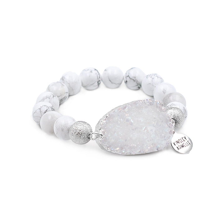 Stone Collection - Silver Pepper Bracelet