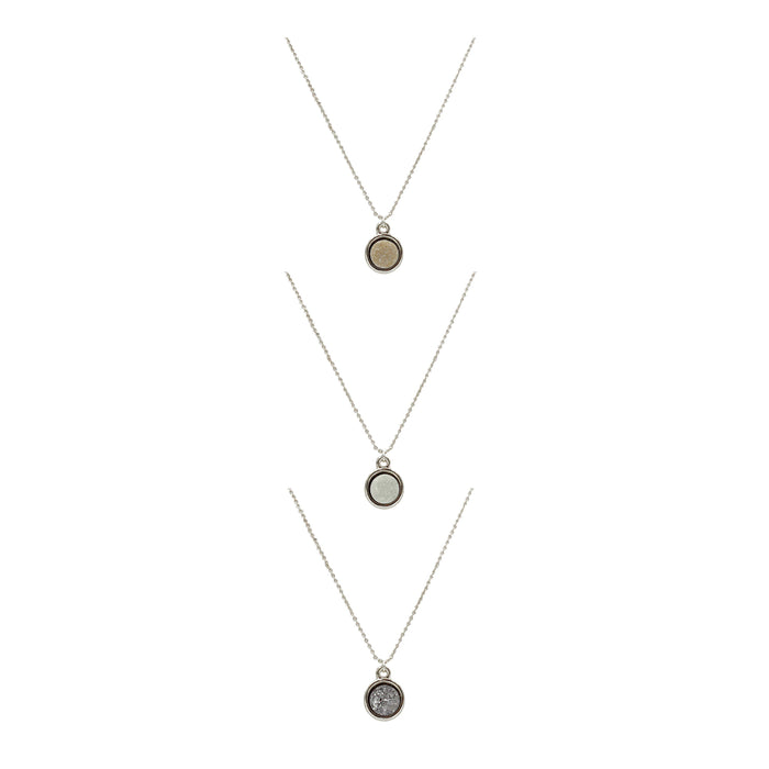 Stone Collection - Silver Quartz Necklace Set