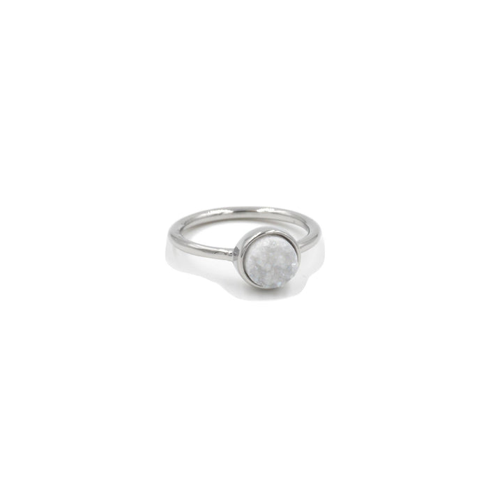 Stone Collection - Silver Quartz Ring