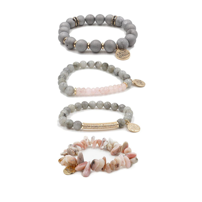 Strawberry Mist Bracelet Stack