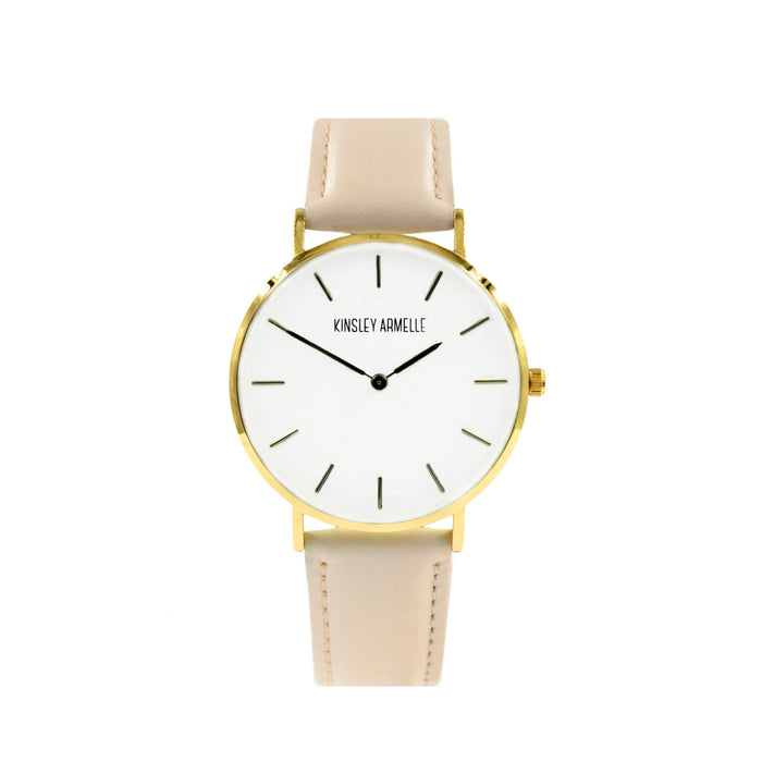 Tempus Collection - Gold Ashen Tan Leather Watch