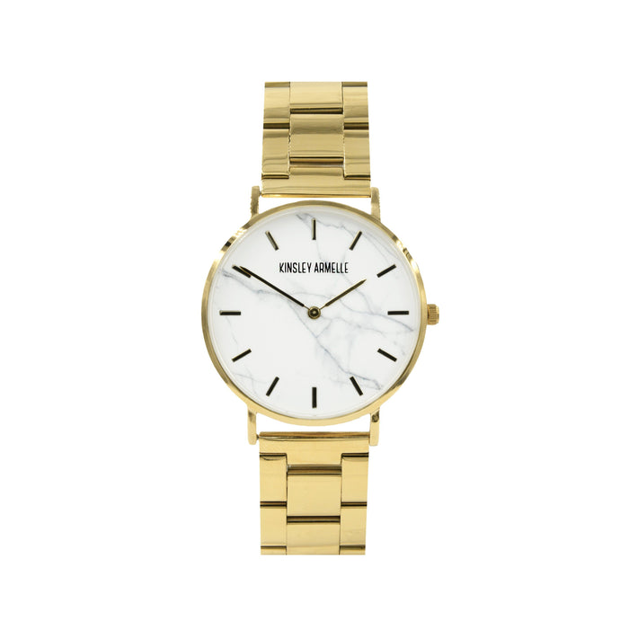 Tempus Collection - Gold Marble Steel Watch