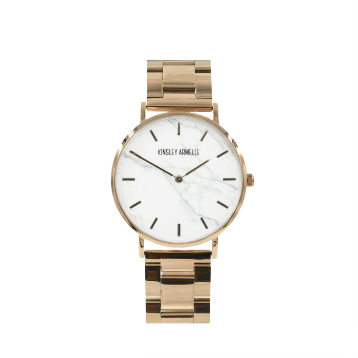 Tempus Collection - Rose Gold Marble Steel Watch