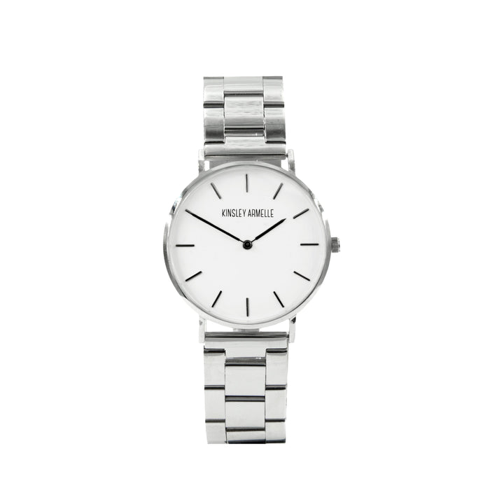 Tempus Collection - Silver Ashen Steel Watch