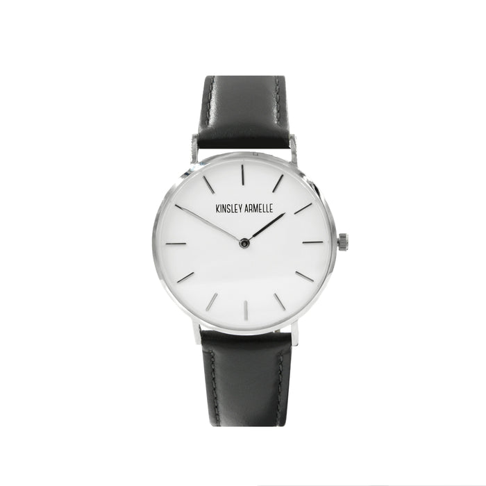 Tempus Collection - Silver Ashen Gray Leather Watch