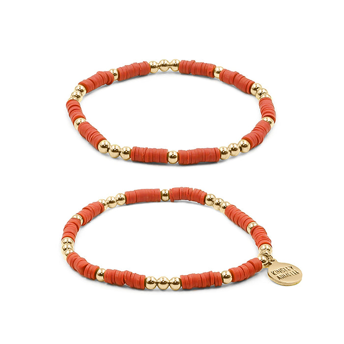 Thora Collection - Crimson Bracelet Set