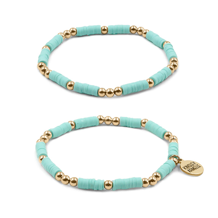 Thora Collection - Mint Bracelet Set