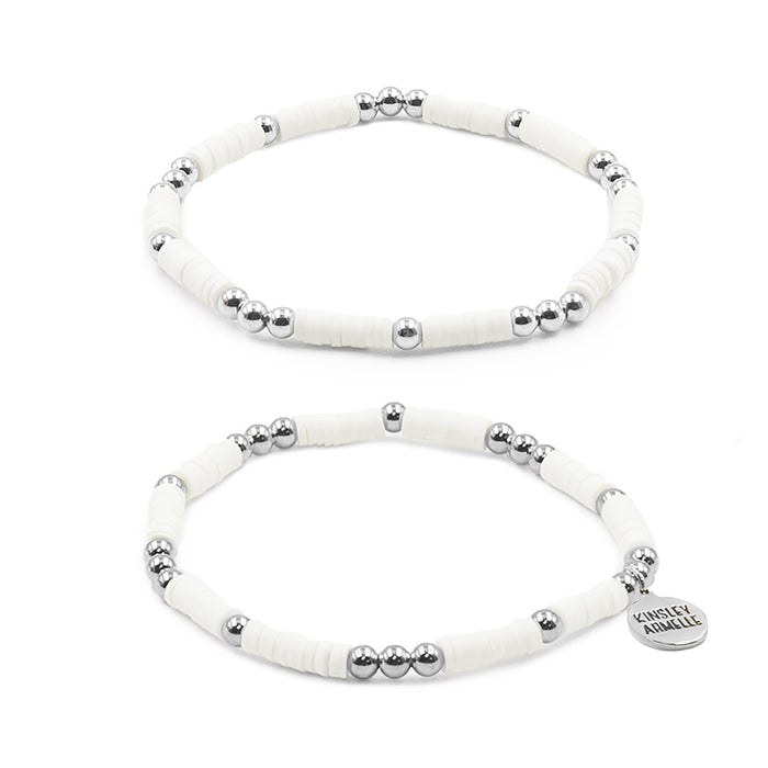 Thora Collection - Silver Ashen Bracelet Set