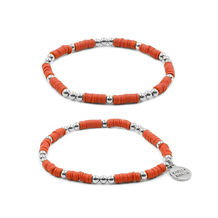 Thora Collection - Silver Crimson Bracelet Set
