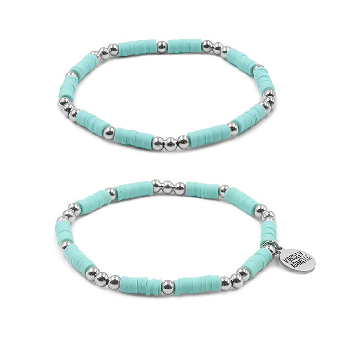 Thora Collection - Silver Mint Bracelet Set
