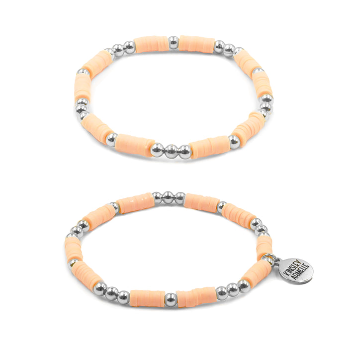 Thora Collection - Silver Sherbet Bracelet Set