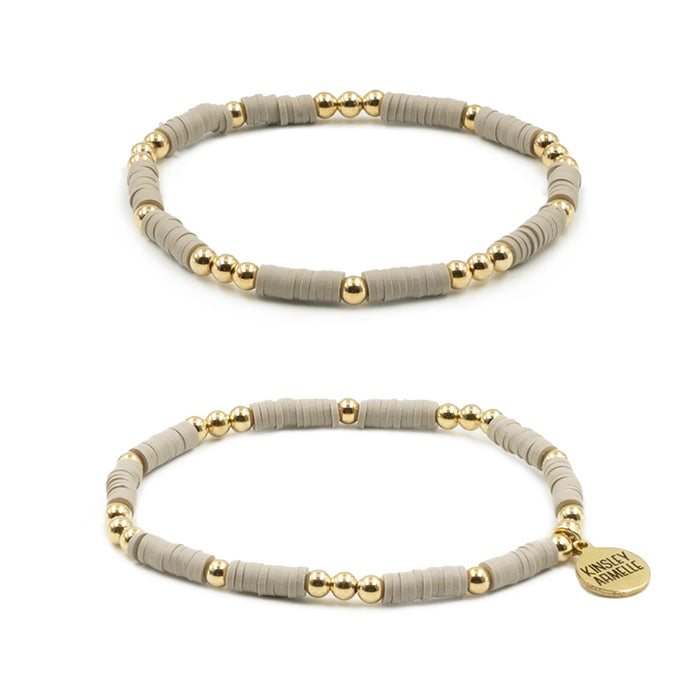Thora Collection - Taupe Bracelet Set