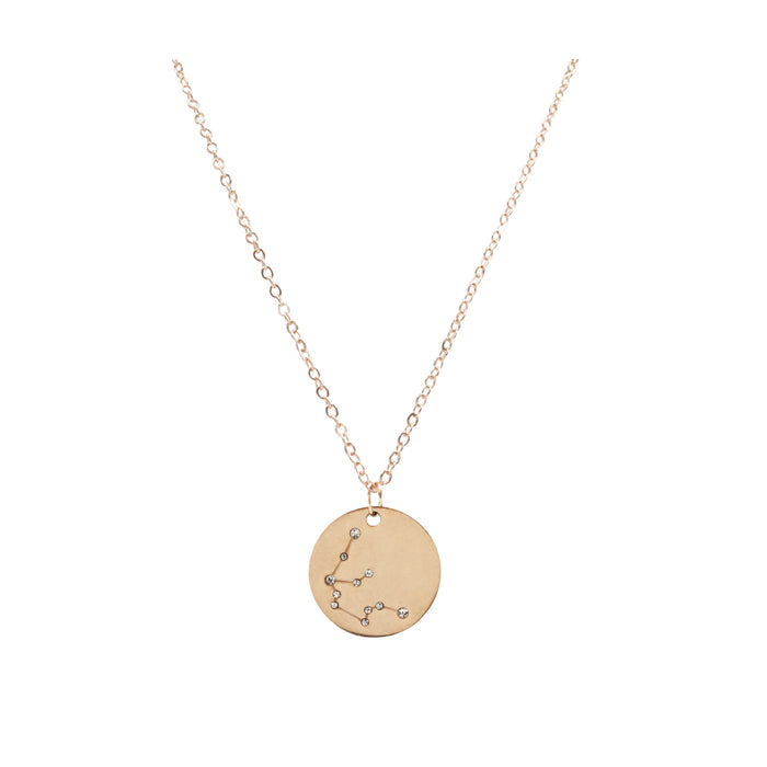 Zodiac Collection - Rose Gold Aquarius Necklace (Jan 20 - Feb 18)