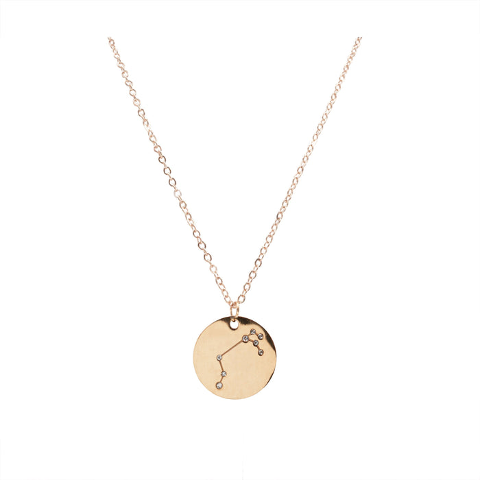 Zodiac Collection - Rose Gold Aries Necklace (Mar 21 - Apr 19)