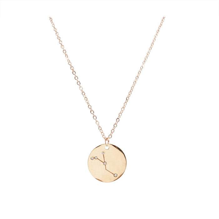 Zodiac Collection - Rose Gold Cancer Necklace (Jun 21 - July 22)