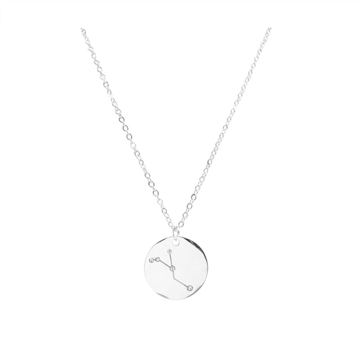 Zodiac Collection - Silver Cancer Necklace (Jun 21 - July 22)