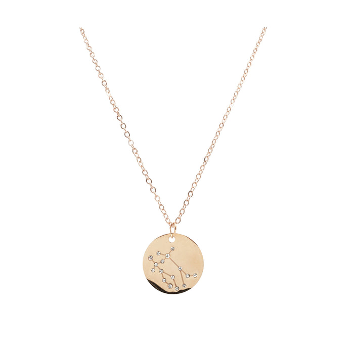 Zodiac Collection - Rose Gold Gemini Necklace (May 21 - June 20)