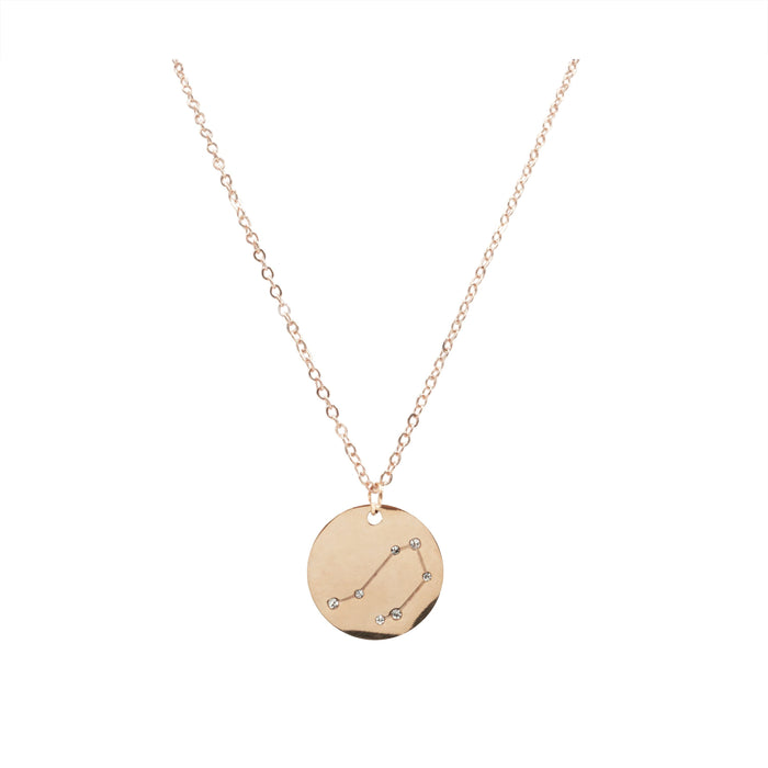 Zodiac Collection - Rose Gold Libra Necklace (Sep 23 - Oct 22)