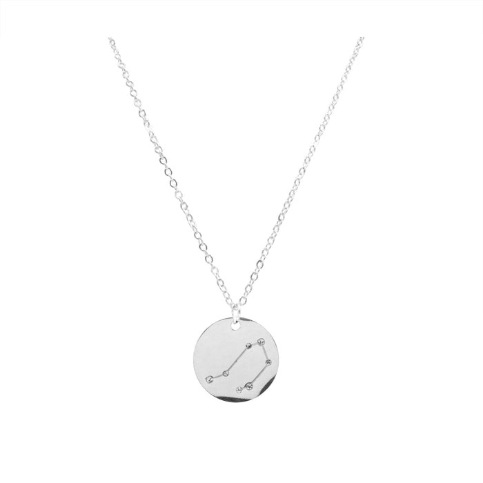 Zodiac Collection - Silver Libra Necklace (Sep 23 - Oct 22)