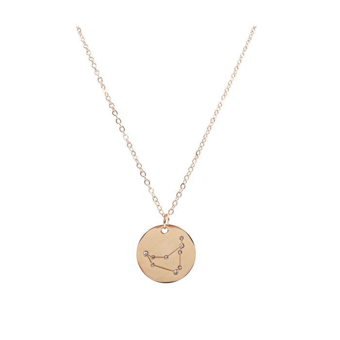 Zodiac Collection - Rose Gold Capricorn Necklace (Dec 22 - Jan 19)
