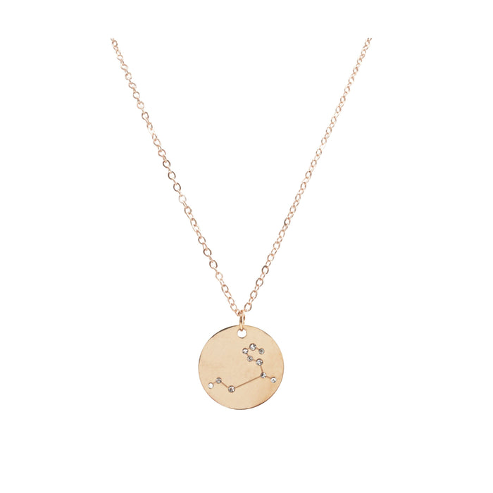 Zodiac Collection - Rose Gold Leo Necklace (July 23 - Aug 22)