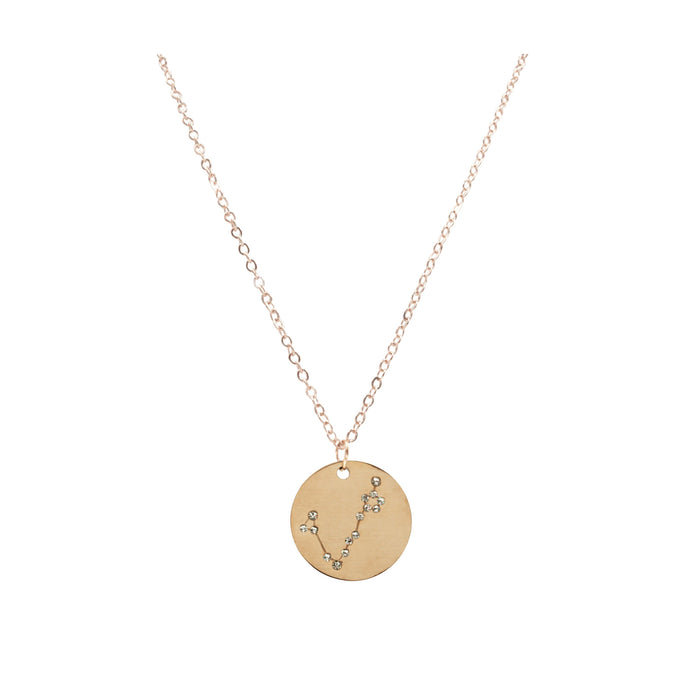 Zodiac Collection - Rose Gold Pisces Necklace (Feb 19 - Mar 20)