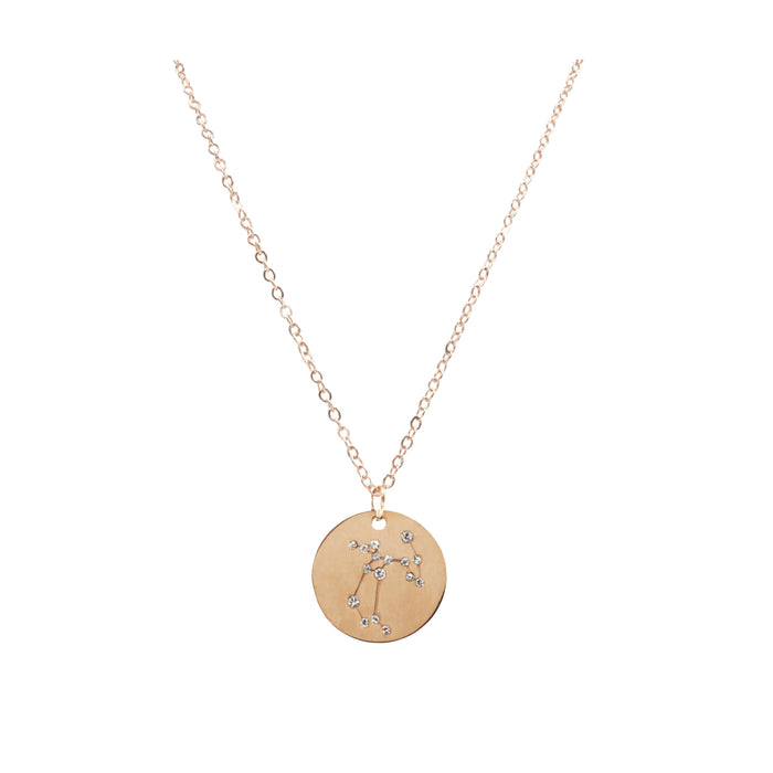 Zodiac Collection - Rose Gold Sagittarius Necklace (Nov 22 - Dec 21)