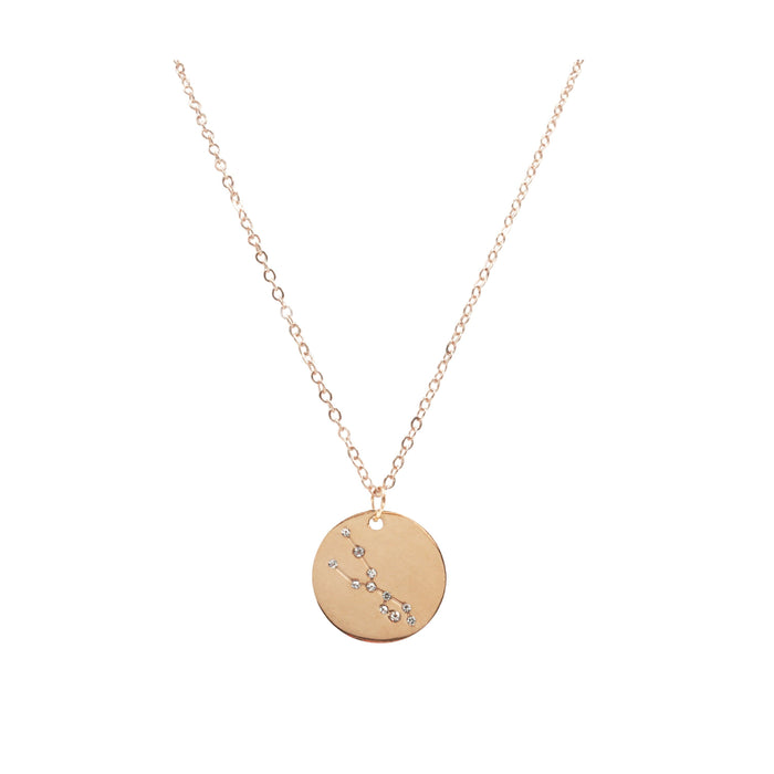 Zodiac Collection - Rose Gold Taurus Necklace (Apr 20 - May 20)