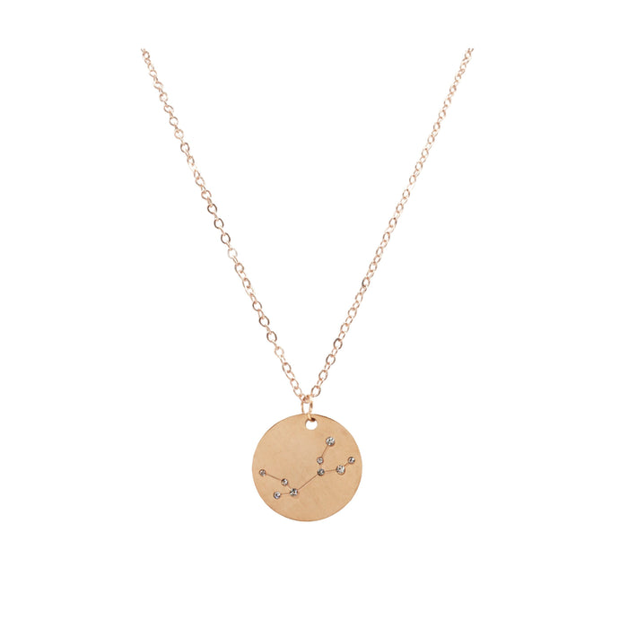 Zodiac Collection - Rose Gold Virgo Necklace (Aug 23 - Sep 22)