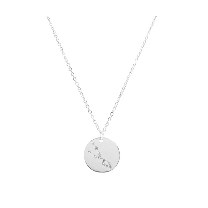 Zodiac Collection - Silver Taurus Necklace (Apr 20 - May 20)