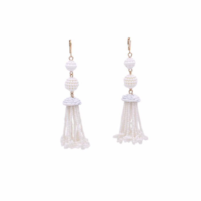 Chandy Collection - Ashen Beaded Earrings