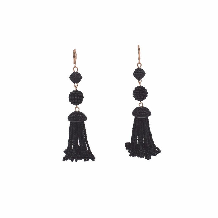 Chandy Collection - Raven Beaded Earrings