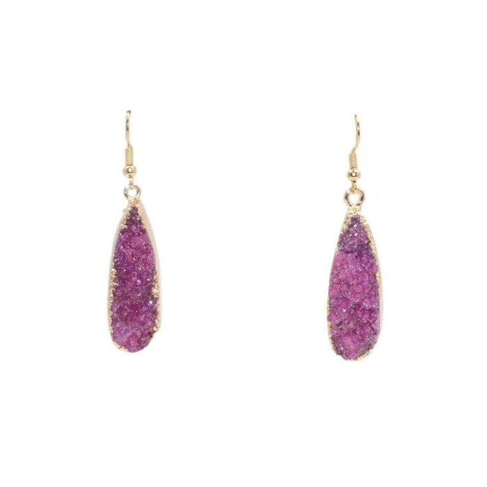 Druzy Collection - Blush Drop Earrings - Kinsley Armelle