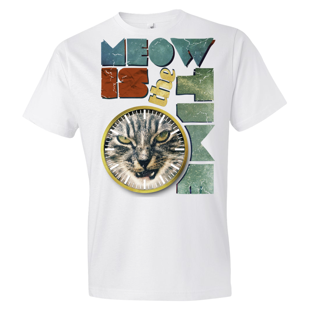 Short sleeve Meow is the time t-shirt