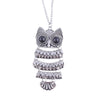 Vintage Owl Pendant Necklace