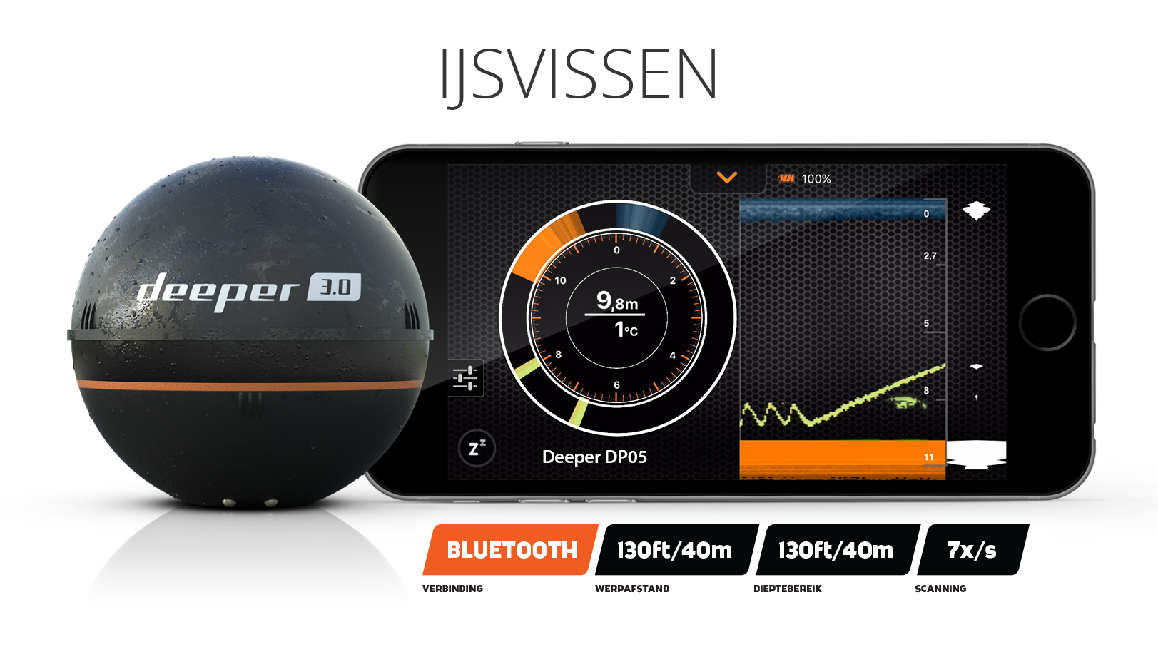 deeper, wireless fish finder 3.0 - clobber tek, Fish Finder
