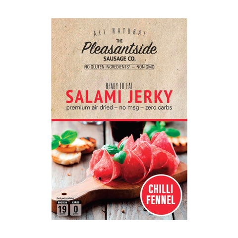 Salami Jerky - chilli fennel.  Premium air dried meats.