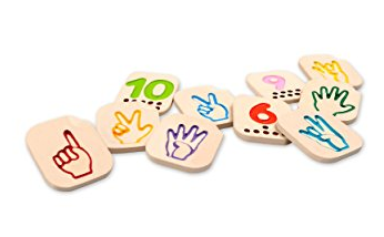 Hand Sign Numbers by Plan Toys