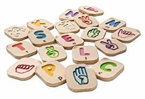 Hand Sign Alphabet by Plan Toys